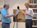 'An overloaded transmission from a quasi-personal stellar source', Adam and Jonathan Bohman's performing a letter by John Latham, The Body Event - Flat Time House, 30 July 2010
