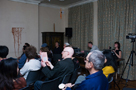 Richard Crow, 'Radio Schreber, Soliloques for Schziophonic voices', audience view, The Freud Museum, London, 20 April 2011, (photo by Annalisa Sonzogni)